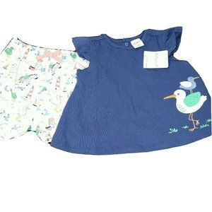 Starting Out 2 pc Outfit Top and Shorts Size 24 Mo